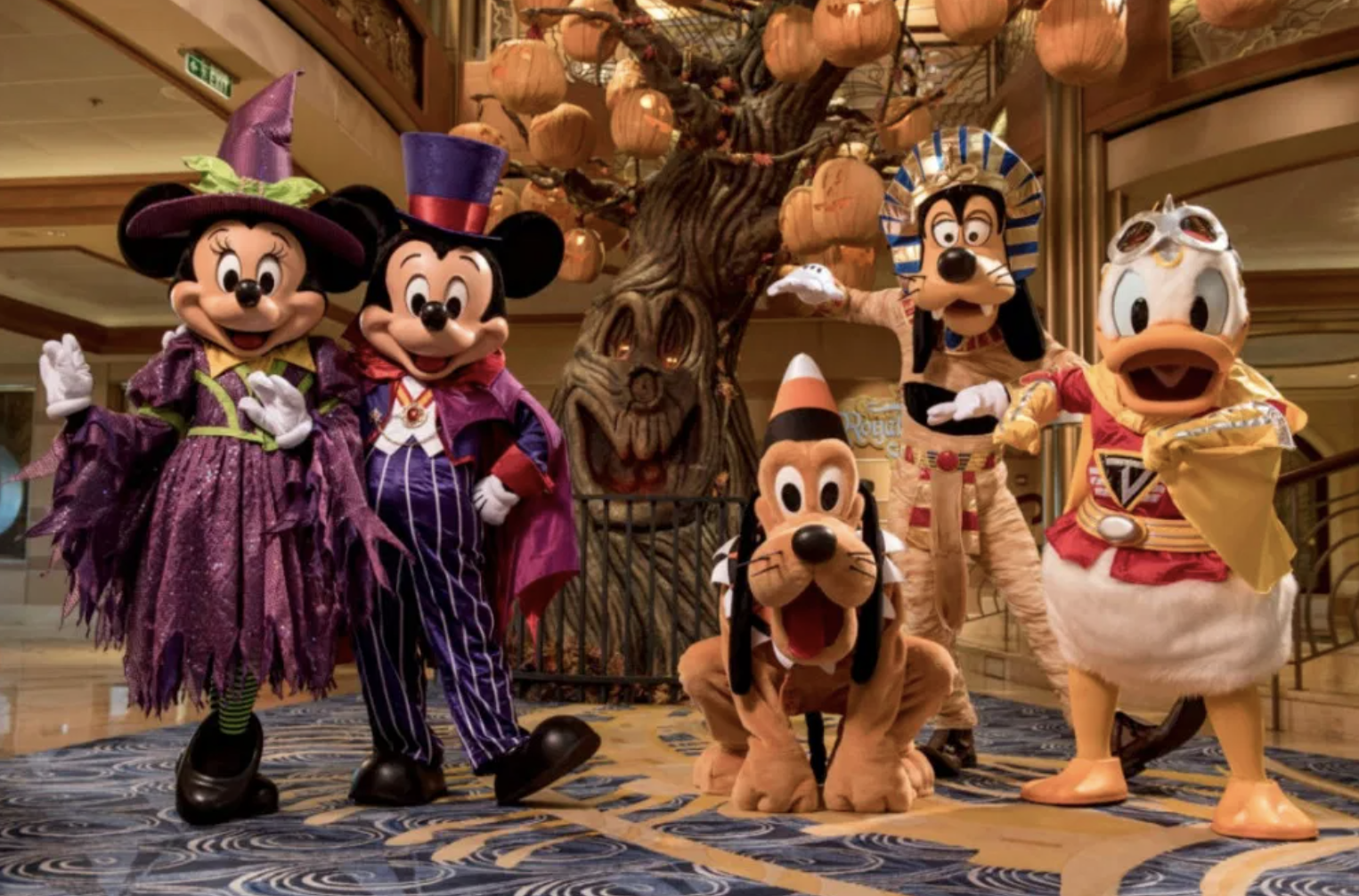 Mickey Mouse Minnie Mouse Donald Duck Pluto Goofy Halloween Cruise